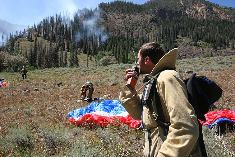 Initial attack for Boise BLM Smokejumpers.